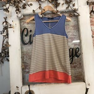 Blue white and pink tank top NWT
